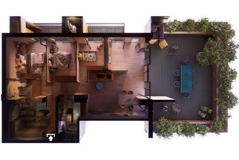 მშენებარე ბინა 3 საძინებლით და დიდი ვერანდით თბილისში - iBuild.ge