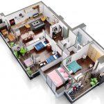 ოთხ ოთახიანი კუთხის ბინა განვადებით თბილისში - #12 ბინა iBuild