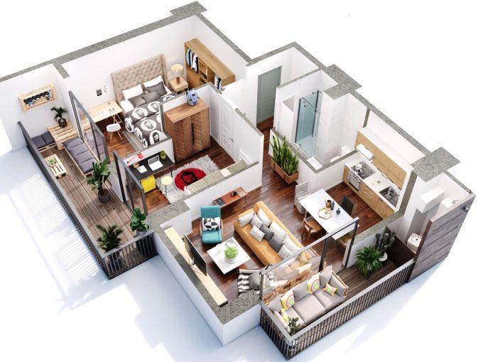 შეიძინე 3 ოთახიანი ბინა განვადებით თბილისში - #6 ბინა iBuild