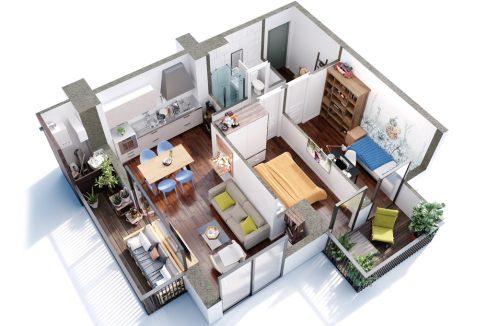 2 ოთახიანი სტუდიო განვადებით თბილისში - #5 ბინა iBuild