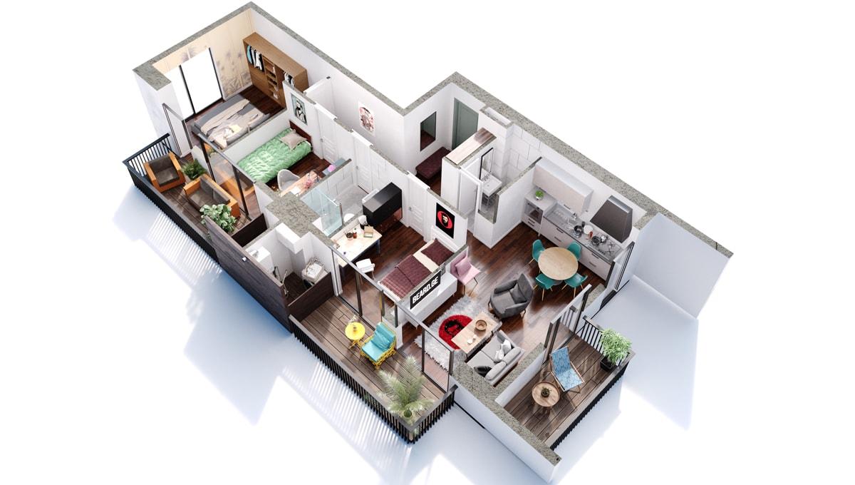 4 ოთახიანი ბინა განვადებით საბურთალოზე - #7 ბინა iBuild