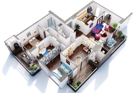 5 ოთახიანი ბინა მშენებარე კორპუსში საბურთალოზე - #9 ბინა iBuild